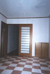 広くとった玄関