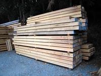 製材された木材です