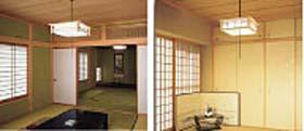 内装材が濃い色合いの場合は、明るめの器具選びを