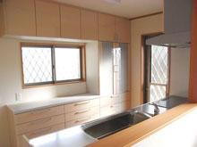 対面キッチン+収納