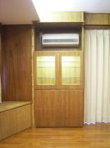 エアコン収納付グラスボード