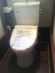 段差を撤去し、水洗式トイレへ一新。