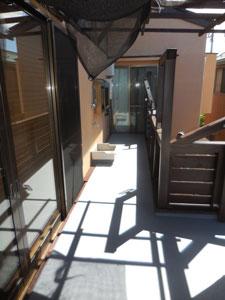 床を防水式のバルコニーに変更