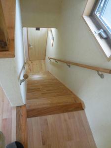 リフォーム後~階段。手すりも新設。