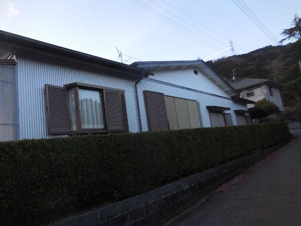 外観(ガルバリウム鋼板仕上げの外壁)